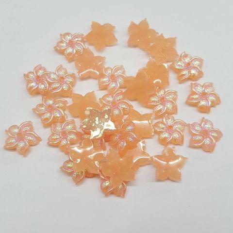 Peach, Acrylic Flower 11mm, 100 Pieces