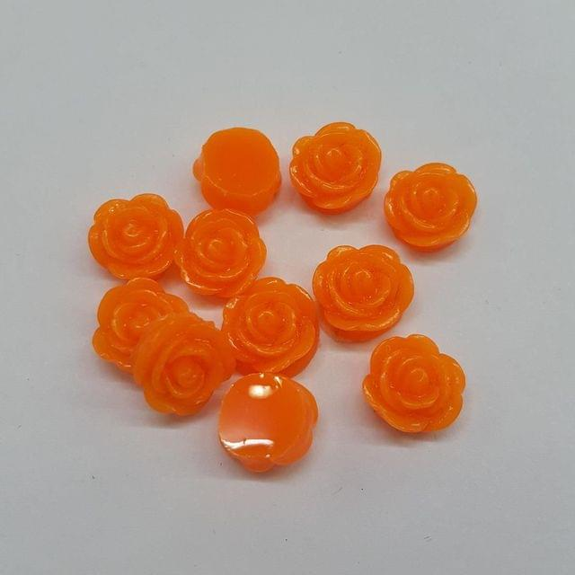 Orange, Acrylic Roses 10mm, 100 pcs