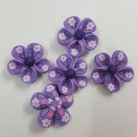 Purple, Rubber Flowers 26mm