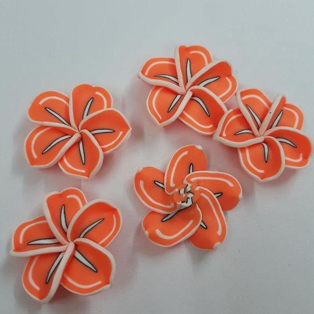 Orange, Rubber Flowers 30mm