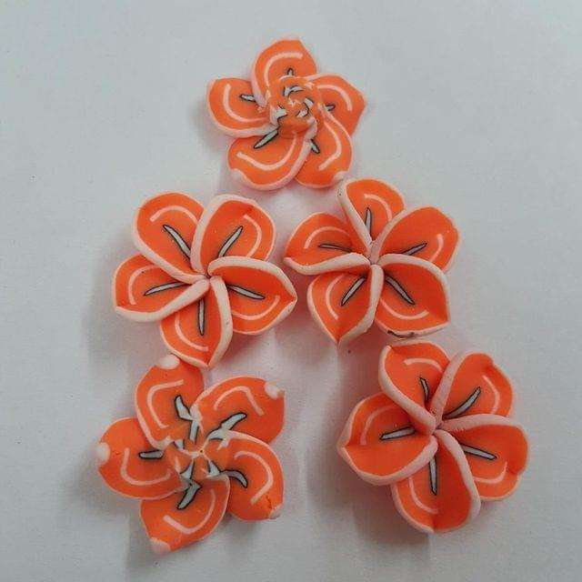 Orange, Rubber Flowers 20mm