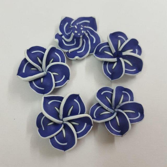 Dark Blue, Rubber Flowers 20mm