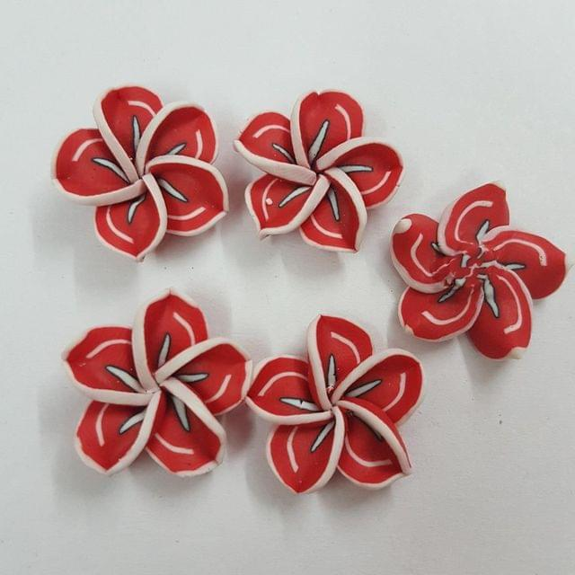 Red, Rubber Flowers 20mm