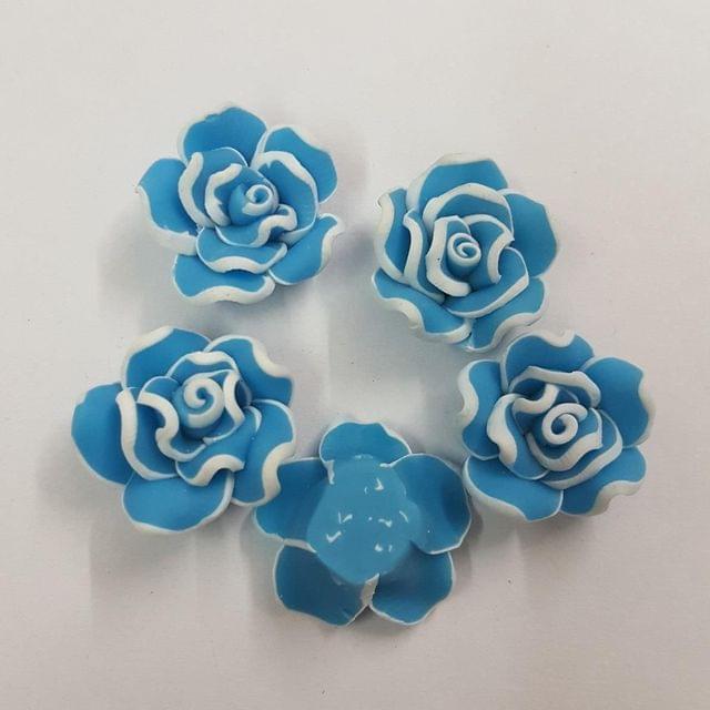 Blue, Rubber Flowers 20mm