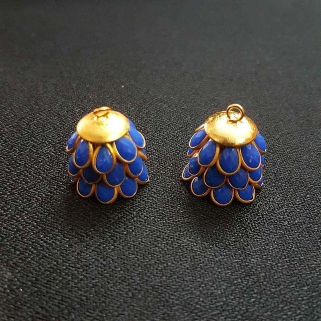 Dark Blue, Pacchi Jhumka 16mm, 2 Pair