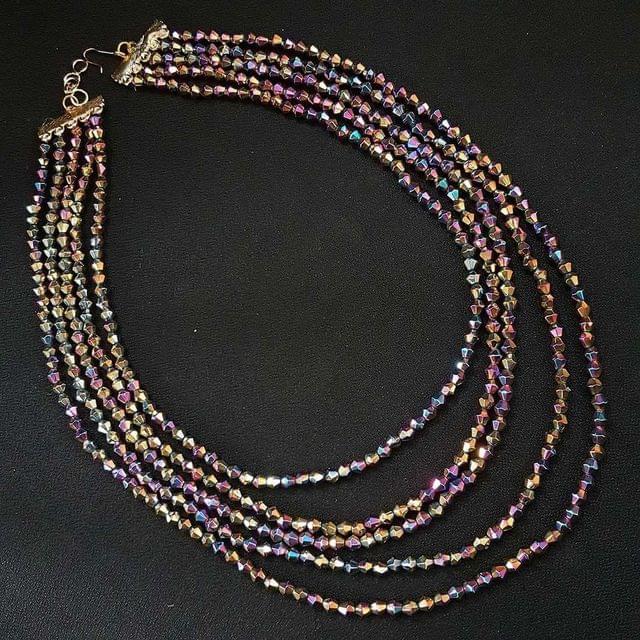 Tyre Cuttings Multi Beaded Layered Necklace For Girls / Women