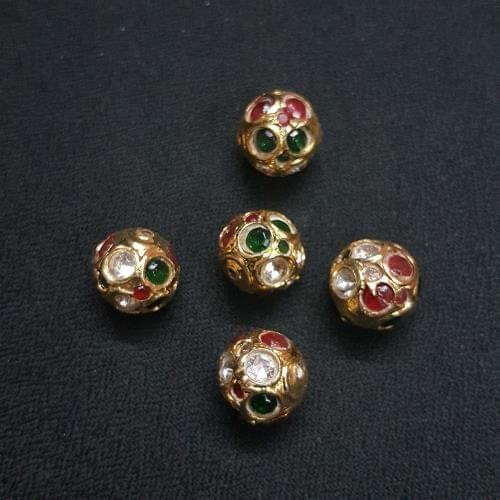 10 pcs, Traditional Jadau Jewellery Making Beads