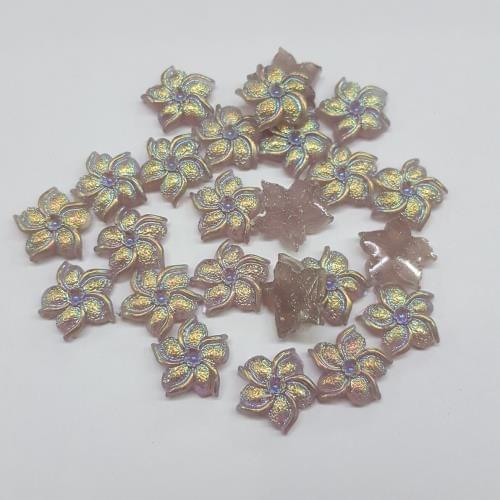 Grey, Acrylic Flower 11mm, 100 Pieces