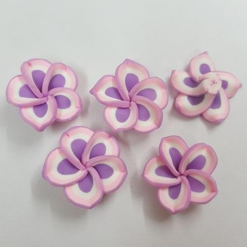 Light Pink And Purple, Rubber Flowers 20mm