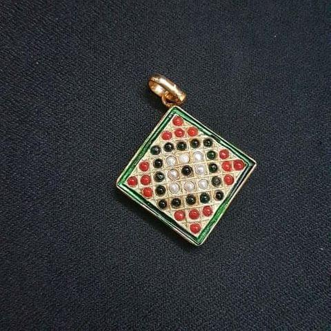 1 pc Jadau work Jewellery Pendant 26mm