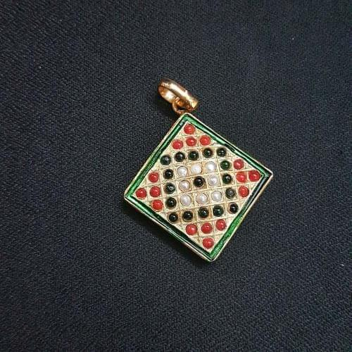 1 pc Jadau work Jewellery Pendant 26mm