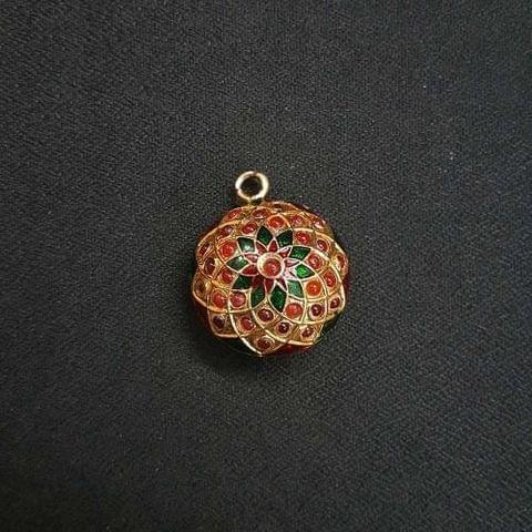 1 pc Jadau Work Jewellery Pendant 25mm