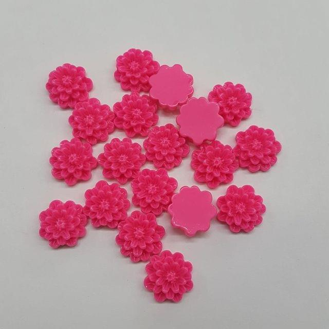 Pink, Acrylic Flower 12mm, 100 Pieces