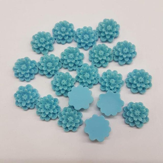 Blue, Acrylic Flower 12mm, 100 Pieces