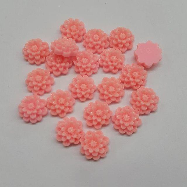 Baby Pink, Acrylic Flower 12mm, 100 Pieces