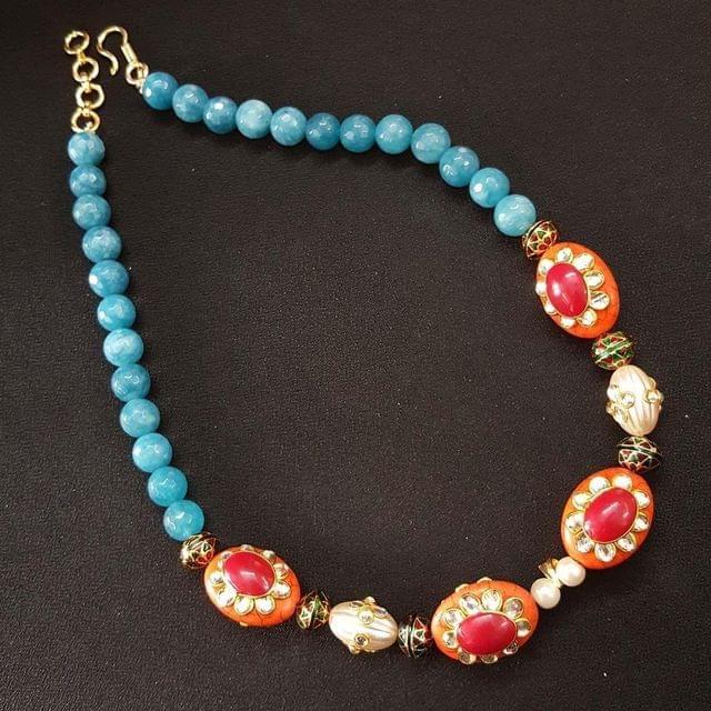 Multi Beaded Mala Necklace For Girls / Women