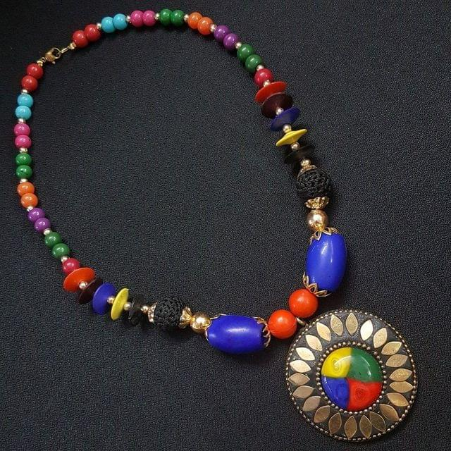 Beautiful Tibetan Necklace With Multi Beads