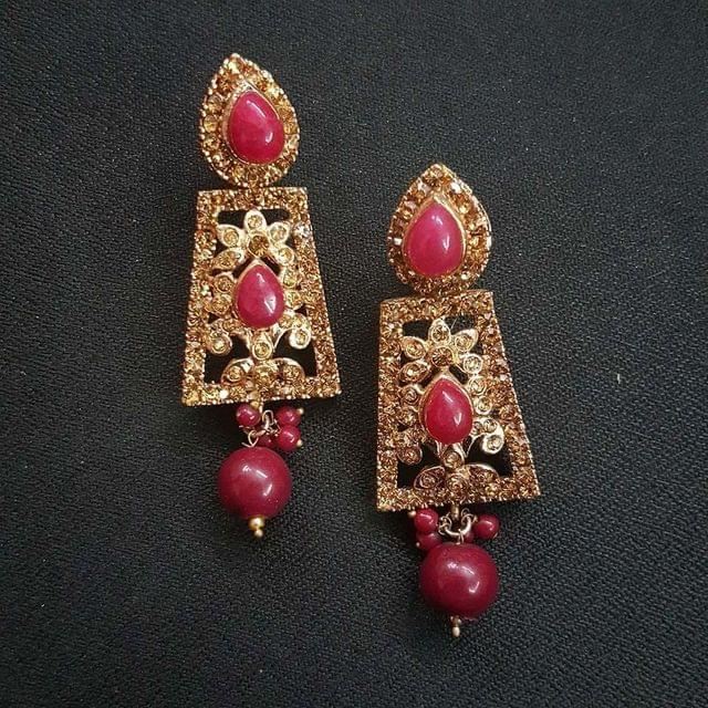 Red Designer Earrings For Girls / Women