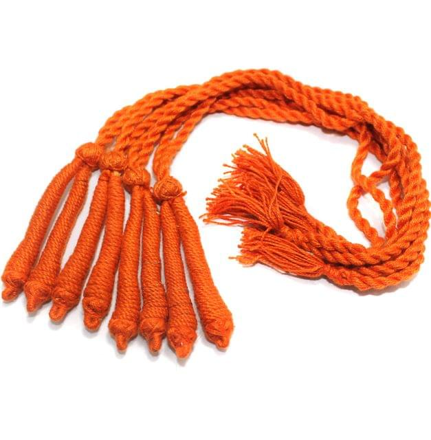 4 Pcs Thread Necklace Dori Orange 15 inch