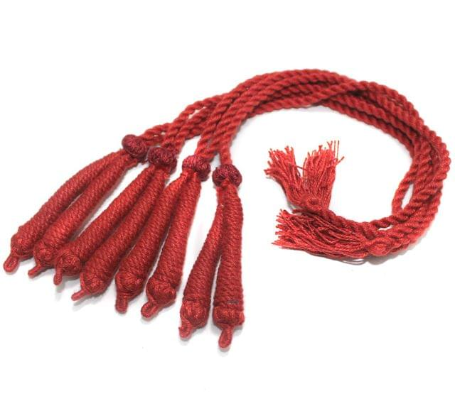 4 Pcs Thread Necklace Dori Maroon 15 inch
