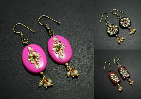 Kundan Work Designer Earrings Combo