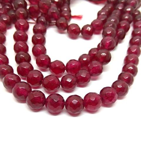 Berry red Agate beads 8 mm agates
