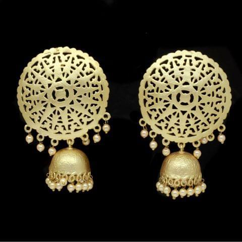 Earrings Gold Tone Jhumki Wedding Bridal Fashion Navratri Gift
