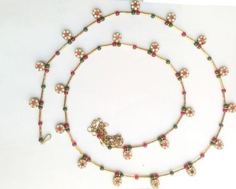 "Hip Belly Waist Chain Gold Tone Stone Wedding Bridal 34"" Indian"
