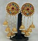 Multi colored Gold Tone Earrings Fashion bridal Bollywood