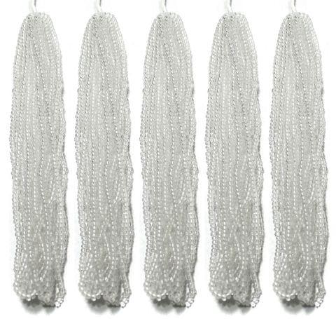 5 Bunch of Preciosa Seed Bead Strings 11/0 Trans White