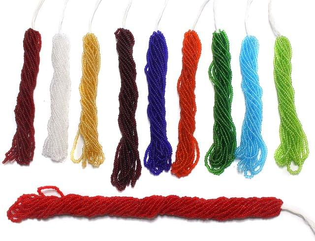 10 Bunch of Preciosa Seed Bead Strings 11/0 Trans Combo Multicolor