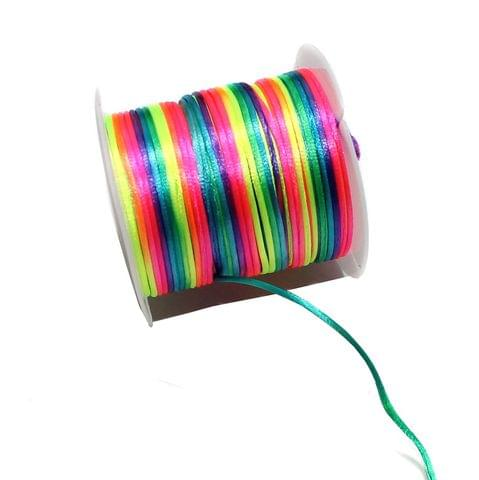 10 Mtr Multicolored Satin Thread Spool 1 mm