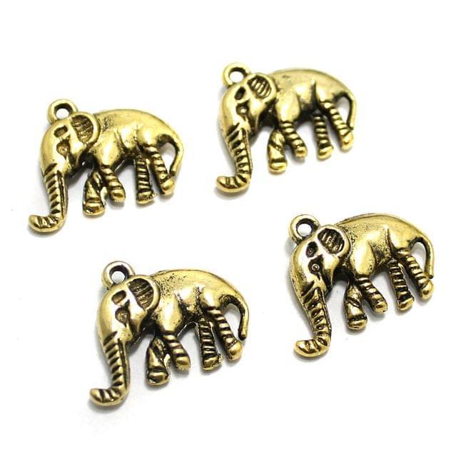 20 Pcs German Silver Elephant Charms 20x16mm