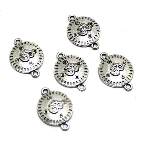 20 Pcs German Silver Om Connector Beads 22x16mm