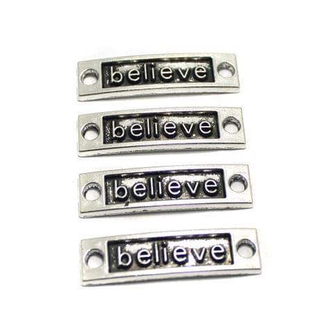 10 Pcs German Silver Bracelet Connectors 35x9mm