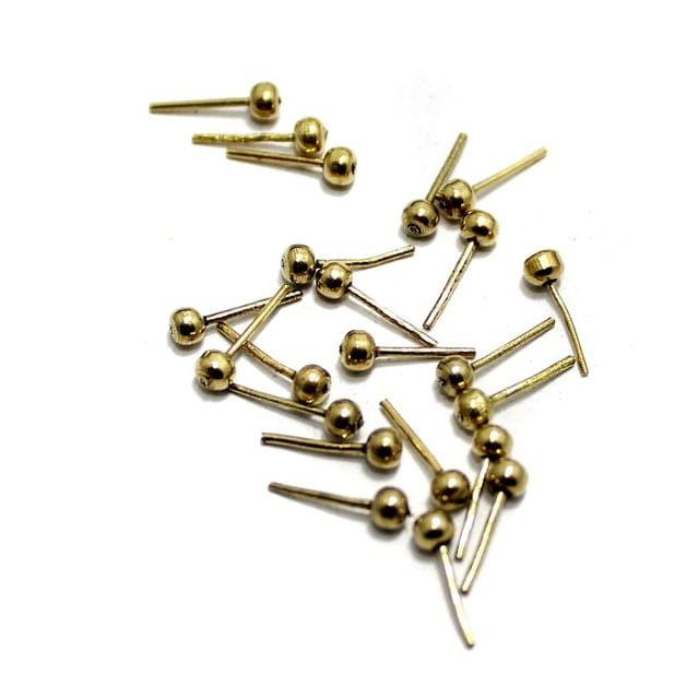 200 Pcs German Silver Ball Pins 8x2mm