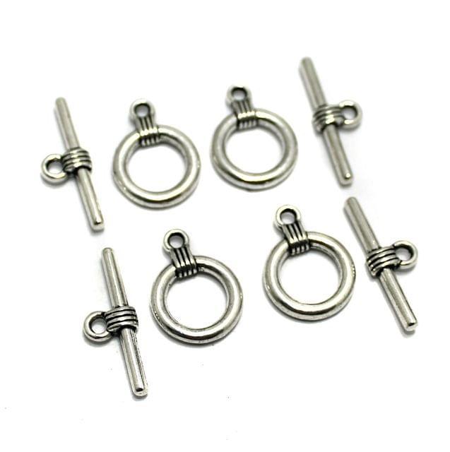 10 Pcs German Silver Toggles 21x15mm