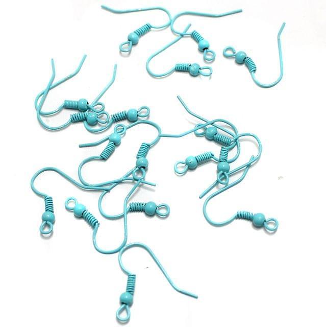 100 Pcs Ear Wires (Ear Hooks) Turquoise