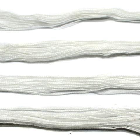 5 Bunch Colored Cotton Threads White