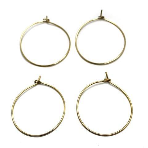 25 Pair Earring Component Antique Golden 26 mm