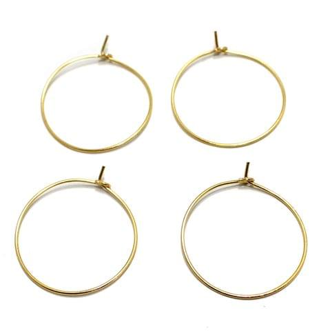 25 Pair Earring Component Golden 26 mm
