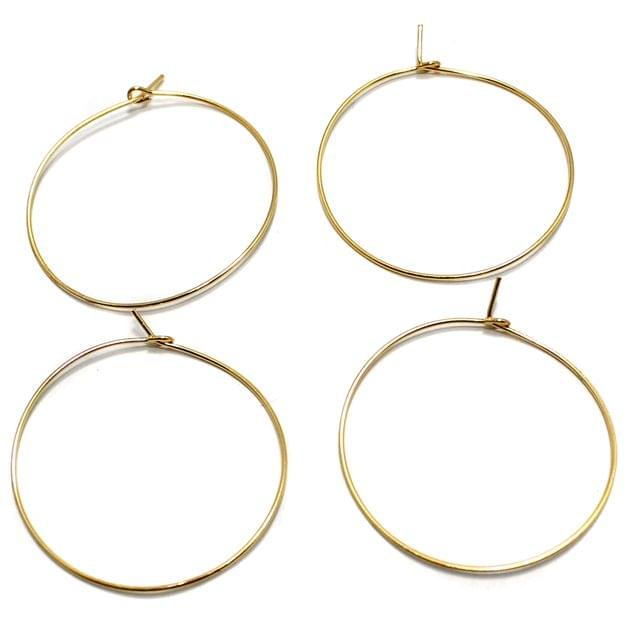 25 Pair Earring Component Golden 35 mm