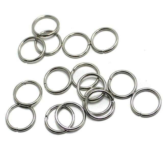 100 Gm Metal Nickle Silver Jump Rings 9 mm