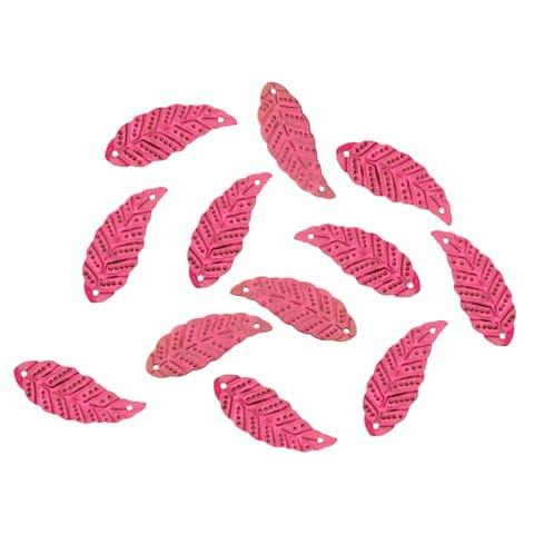 Buy 1 get 1 free Foppish Mart Pink Leaf  Acrylic Sequins/ Stitch ons /Beads - 100 Pcs
