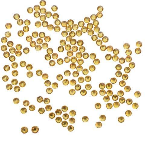 Buy 1 get 1 pack free Foppish Mart Chic Golden Stones/ Kundans/ Stick Ons - - 240 Pcs