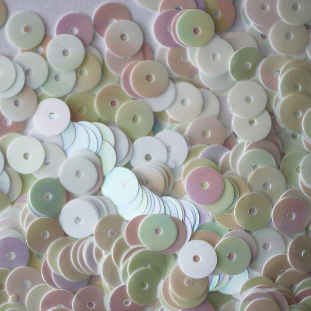 Buy 1 Get 1 Free White  Disc Shaped Sequins