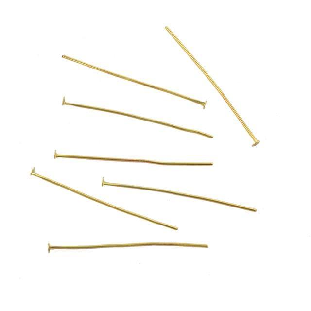Foppish Mart Gold Head Pin  jewelry Findings _100Pcs