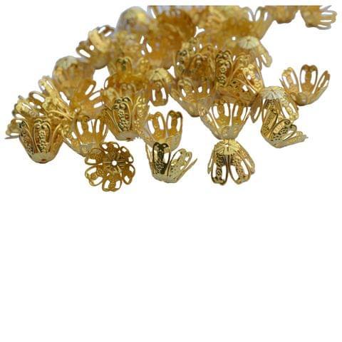 Foppish Mart Medium Floral Bead Cap Fillers for Jewellery Making_ 25 pieces