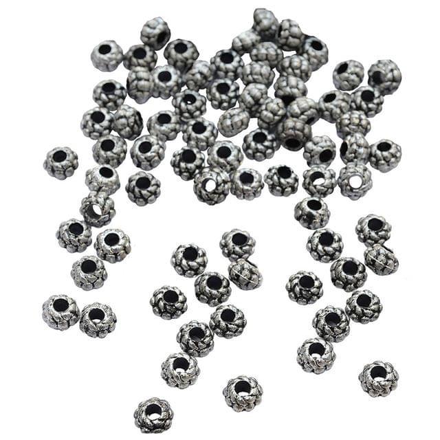 Foppish Mart Floral Oxidised Beads_100Pcs