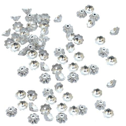 Small Floral Bead Cap Fillers for Jewellery Making_100pieces